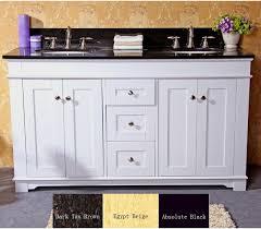 calais 60 inch transitional single sink bathroom vanity white