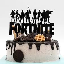 fortnite birthday cake 7 topper acrylic decor black