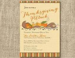 Halloween Potluck Invitation Templates by Thanksgiving Potluck Invitation Card For Autumn Dinner Party