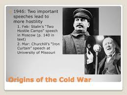 Iron Curtain Speech 1946 Definition by The Cold War Origins