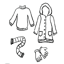 Free Coloring Pages Winter Clothes Clothing Summer