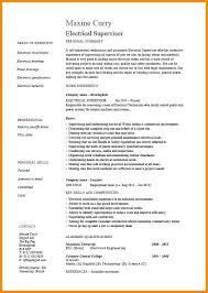Sample Resume Of Electrician 9 Resumes Australia