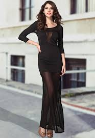 wholesale dear lover fever mesh maxi dress in black from china
