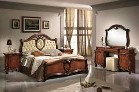 details zu schlafzimmer komplett set 6tl nussbaumfarbe stil klassisch italienische möbel