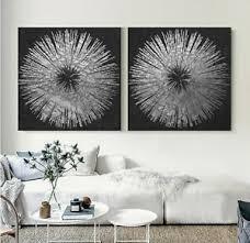 leinwand bild set bis 200x95x5 schwarz silber grau