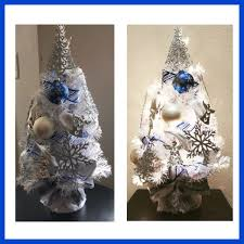 Prelit Fully Decorated White Christmas Tree 2 Ft Tall