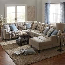 Pier One Dining Room Chair Cushions by Build Your Own Nyle Stone Gray Sectional Collection Seat