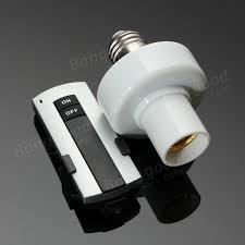 e27 wireless remote light l bulb holder cap