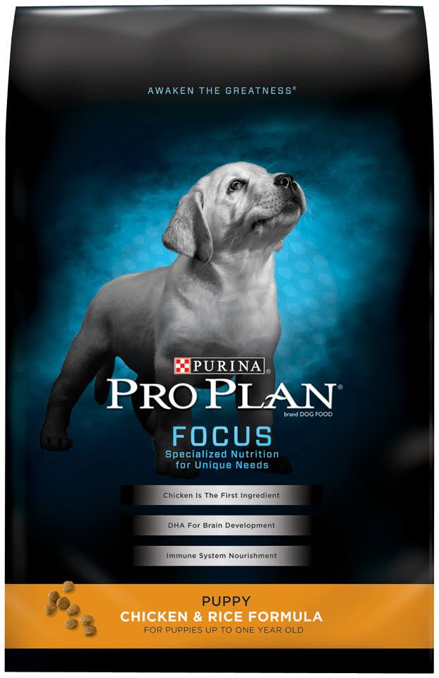 Purina Pro Plan Focus Puppy Dry Dog Food - Chicken and Rice Formula, 18lbs