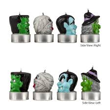 Halloween Flameless Taper Candles by Figurine Candles Frankenstein Mummy Witch And Dracula