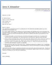 Example Cover Letter For Application Perfect Clinical Nurse Specialist Pictures Of Consultant