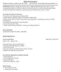 School Aide Resume Home Health Sample Less Experience Admirable With
