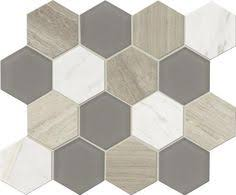 Menards Beveled Subway Tile by Grand Terrace Winter White Hexagon Mosaic 2