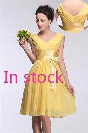 2017 short bridesmaid dresses under 50 real image women v neck
