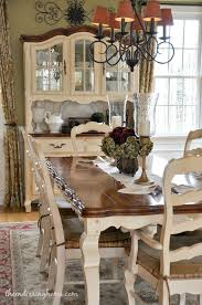 Dark Tabletop With Cream Base And Chairs Fabric Seat