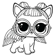 Lol Surprise Coloring Pages Pets Pet Free Printable X Pixels