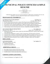 Report Writing For Law Enforcement Examples Police Officer Resume Template