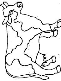 Folk Art Cow Printable Pattern Coloring Page