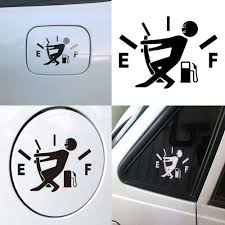 100 Truck Window Stickers Fuel Meter EF Car Vehicle Waterproof Reflect Light