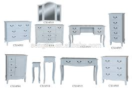 Wholesale Rustic Home Decor High Gloss White Bedroom Furniture Set