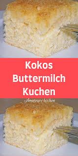 kokos buttermilch kuchen healthy dessert recipes healthy