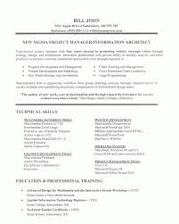Project Manager Resume Example Throughout It Sample