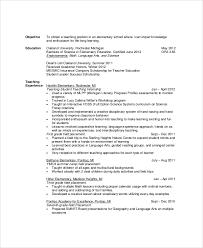 Teacher Resume Objective Example