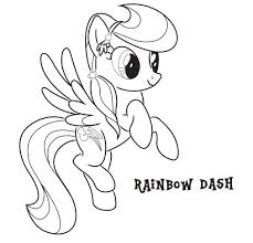 Rainbow Dash Coloring Pages Mlp