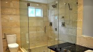 Frameless Shower Door On Enclosure
