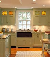 Olive Green Kitchen Cabinets Distressed