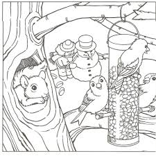 Coloring Pages Winter Scene Printable Free Disney Princess Holiday Junior Sheets