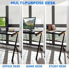 White Appealing Tables Plans Simple Narrow Computer Designs