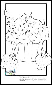 Kawaii Cupcake Coloring Pages 2412473