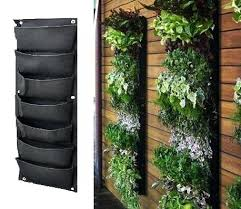 Hanging Fence Planters Pocket Outdoor Vertical Living Wall Planter