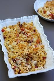 gratin de pâtes au poulet chorizo et tomates amandine cooking