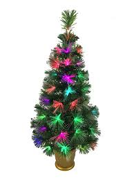 3ft Pre Lit Christmas Tree by Christmas Concepts 36 Inch 3ft Green Led Firework Fibre Optic