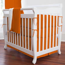Solid Orange Portable Crib Bedding