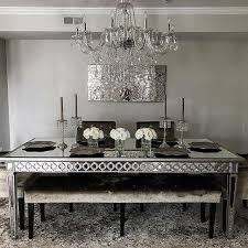Sophie Mirrored Dining Table Inspirational Of 1
