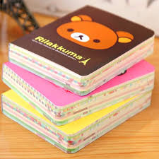 Kawaii Cartoon Rilakkuma Print Cover Color Page Mini Notebook Diary Notepad Travel Book Bear Relaxed In Notebooks From Office School