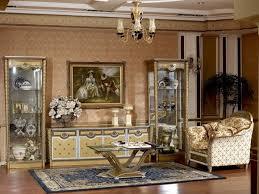 wohnwand wohnzimmer kommode echtes holt barock rokoko vitrine glas vitrinen neu