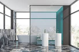 100 Marble Walls Interior Of Luxury Bathroom With Gray And Marble Walls Black