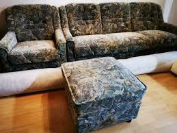 sitzgruppe sofa mit schlaffunktion sessel hocker