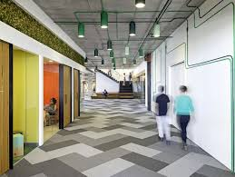 Creative Workspace Environment Designed By O A Bright Color Collaboration Space Love The Floor