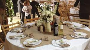 Rustic Wedding Table Decorations Ideas Elegant Decor Hessian Ontop Of White Cloths