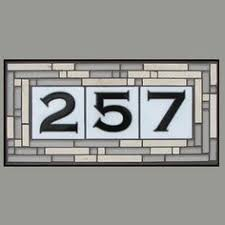 Mexican Tile House Numbers With Frame by Custom Hand Glazed 3 Digit Talavera Tile House Numbers