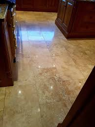 Burnishing Floors After Waxing by Removing Wax And Polishing Travertine Tiles Stone Cleaning And