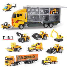 100 Big Truck Toys US 274 45 OFF4 Types Mini Diecast Alloy Car 2in1 Model Engineering Toy Vehicles Carrier With Ejection Carry Function Giftsin