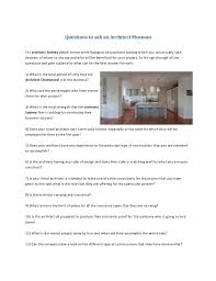 104 Architect Mosman Questions To Ask An