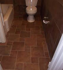 Tiling A Bathtub Alcove by Beautiful Square Brown Bathroom Floor Tile Plus Two Piece Toilet