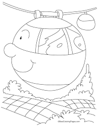 Two Cable Car Coloring Pages